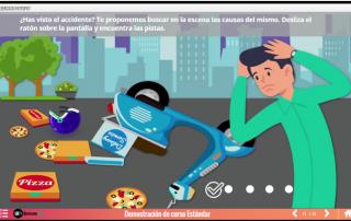 Ejemplo pantalla con gráfico interactivo SCORM con Articulate Storyline