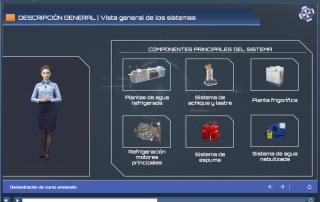 Ejemplo pantalla con presentación interactiva SCORM con Articulate Storyline