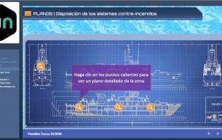 Ejemplo pantalla con puntos calientes SCORM con Articulate Storyline