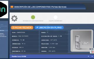 Ejemplo pantalla con pestañas de contenido SCORM con Articulate Storyline