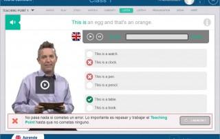 Ejemplo pantalla de objetivos SCORM con Articulate Storyline