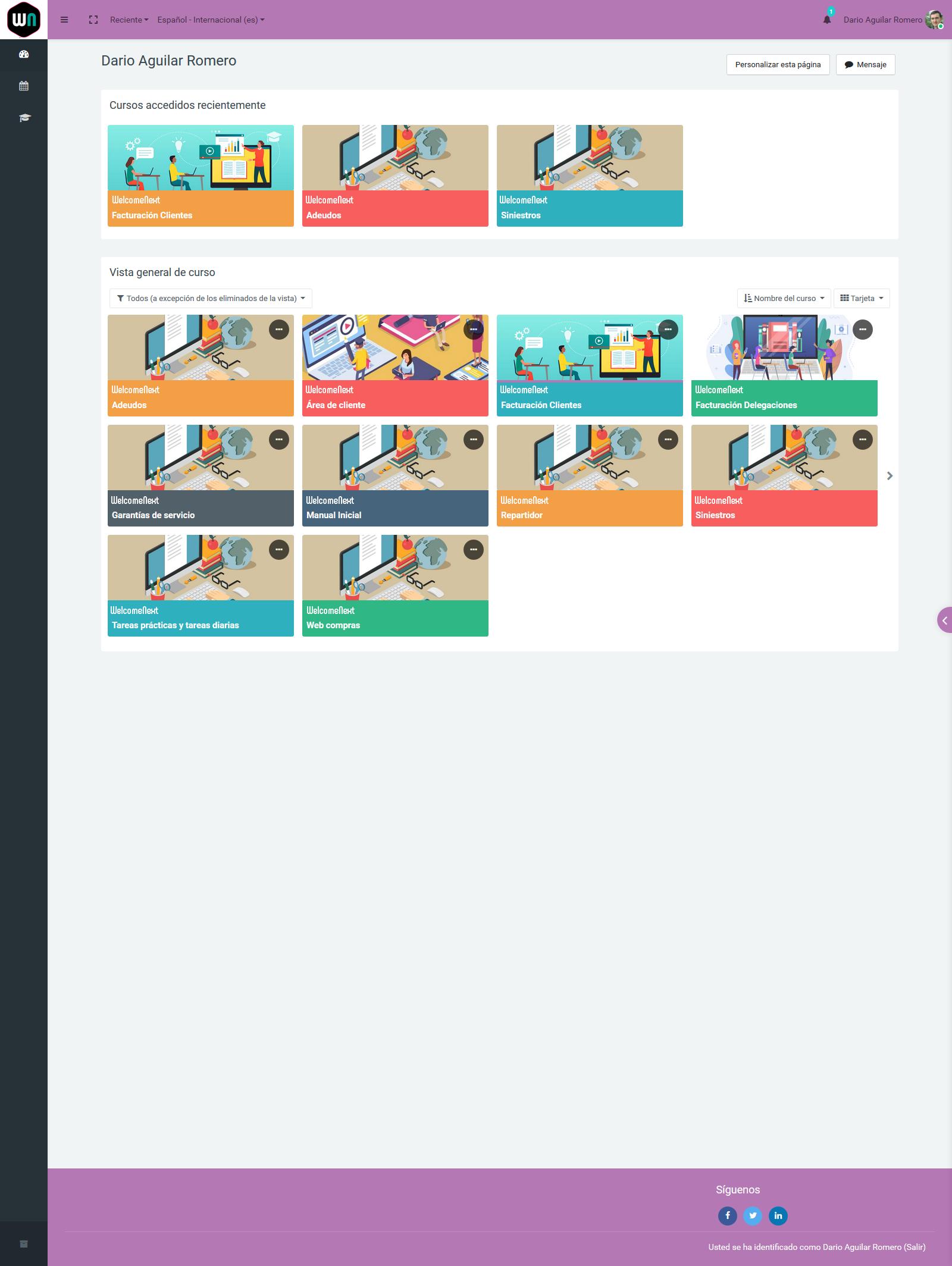 Campus Virtual | Dashboard alumno | Cursos activos