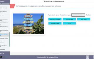 Plantilla contenido e-learning: ejercicio de arrastrar y soltar