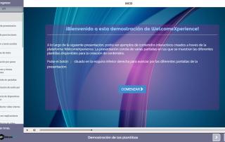 Plantilla contenido e-learning: portada para cursos