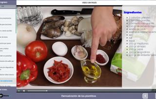 Plantilla contenido e-learning: vídeo con explicaciones interactivas