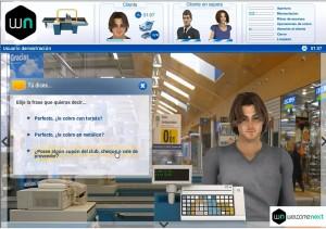 Simulador para cajeros de supermercado