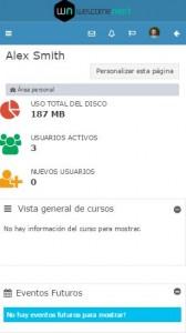 Ejemplo de Plataforma LMS en smartphone