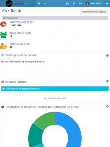 Ejemplo de Plataforma LMS en tablet